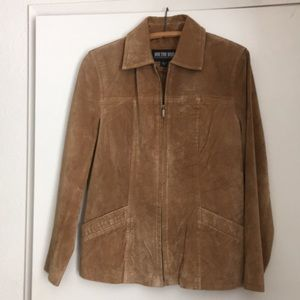 Genuine suede leather coat